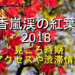 香嵐渓の紅葉2018の見ごろ時期は?電車や車のアクセスや渋滞情報も