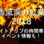 香嵐渓の紅葉2018のライトアップの時間帯やイベント情報も!