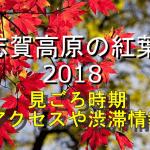 志賀高原の紅葉2018の見ごろ時期は?電車や車のアクセスや渋滞情報も