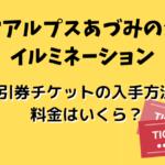 国営アルプスあづみの公園イルミネーション2019-2020割引券チケットの入手方法!料金はいくら?