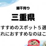 潮干狩り2019三重県でおすすめのスポット5選!子連れにおすすめなのはここ!