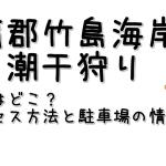 蒲郡竹島海岸の潮干狩り場の場所はどこ?アクセス方法と駐車場の情報も!