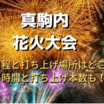 真駒内花火大会2019年の日程と打ち上げ場所はどこ?時間と打ち上げ本数も!