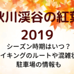 秋川渓谷の紅葉2019シーズン時期はいつ?ハイキングのルートや混雑状況・駐車場の情報も